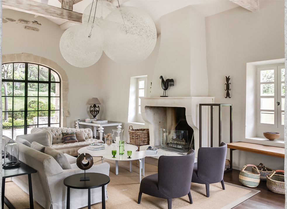 Interior Design, Old Stone Farmhouse, Alpilles
